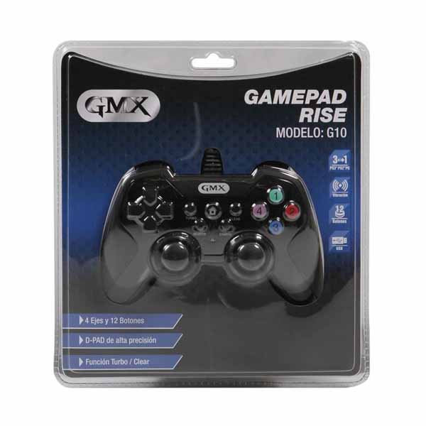 Gamepad Gmx Rise G10 Alambrico P/Ps3/Ps2/Pc Outlet