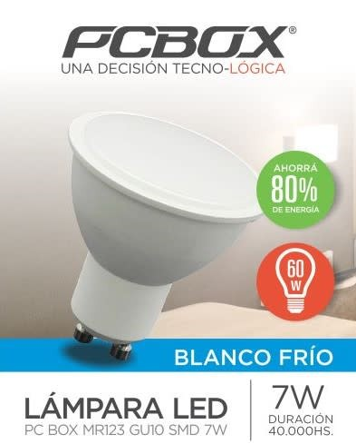 Lampara Led Pc Box Mr123 Gu10 7W Blanco Frio