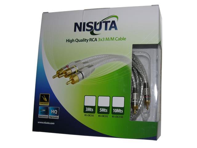 Cable de Audio Alargue Stereo 3.5Mm de 4 Secciones de 1Metro - Nisuta