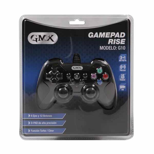 Gamepad Gmx Rise G10 Alambrico P/Ps3/Ps2/Pc (Pn:G10)