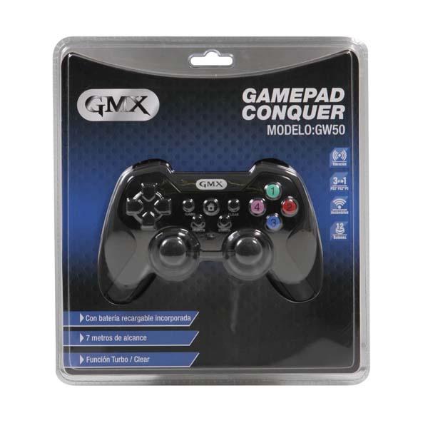 Gamepad Gmx Conquer Gw50 Wireless P/Ps3/Ps2/Usb (Pn:Gw50)