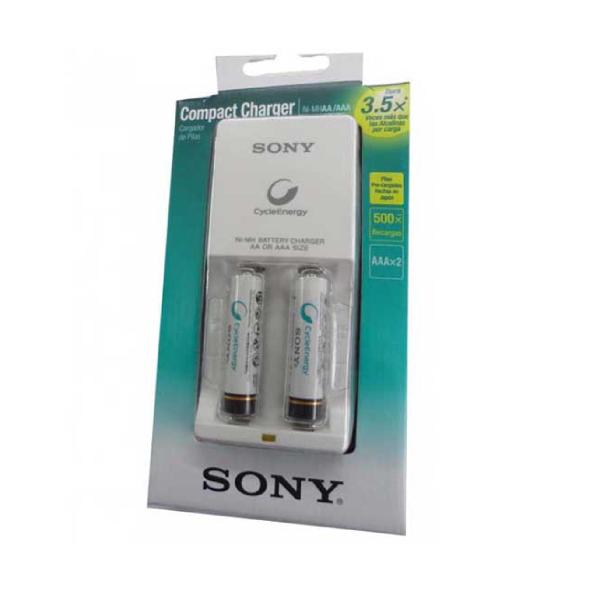 Cargador de Pilas Sony C/2 Pilas Aa 2500Mah (Bgc-34Hh2Gn)