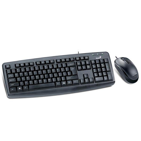 TECLADO Y MOUSE OPTICO GENIUS KM-130 USB BLACK (31330210101)