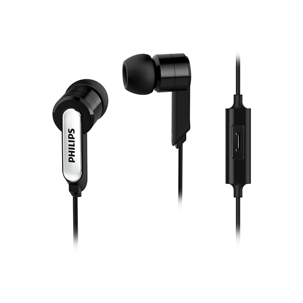 Auricular Philips She1405Bk/10 in Ear  , Microfono Incorporado, Negro