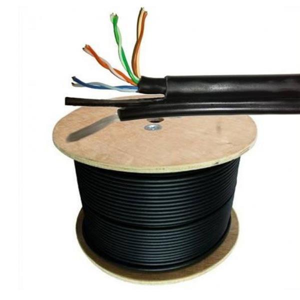 Bobina de Cable Utp Cat5E Exterior - Anicor Con Portante P/Instalaciones Aereas (Caja 305 Mts)