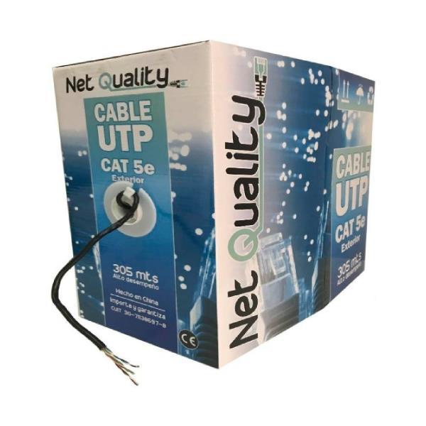 Bobina de Cable Utp Cat5E Exterior Net Quality (Caja 305 Mts)