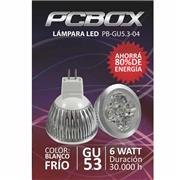 Lampara Led Pc Box Mr16 Gu5.3 6W Blanco