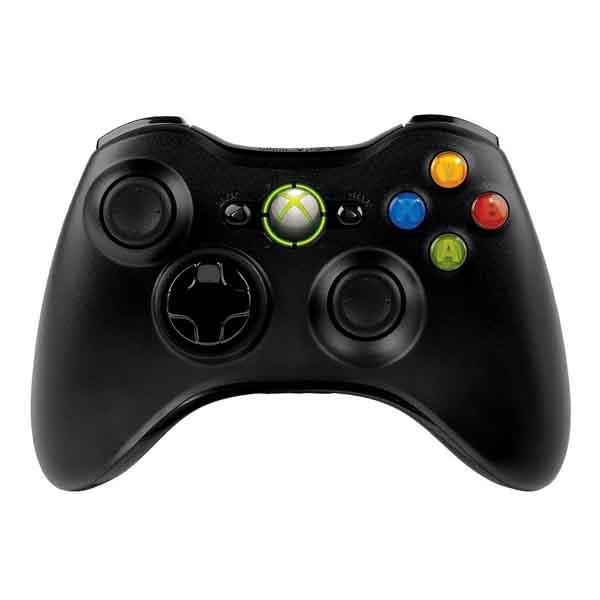 Gamepad Usb Microsoft Wireless Xbox 360 Black