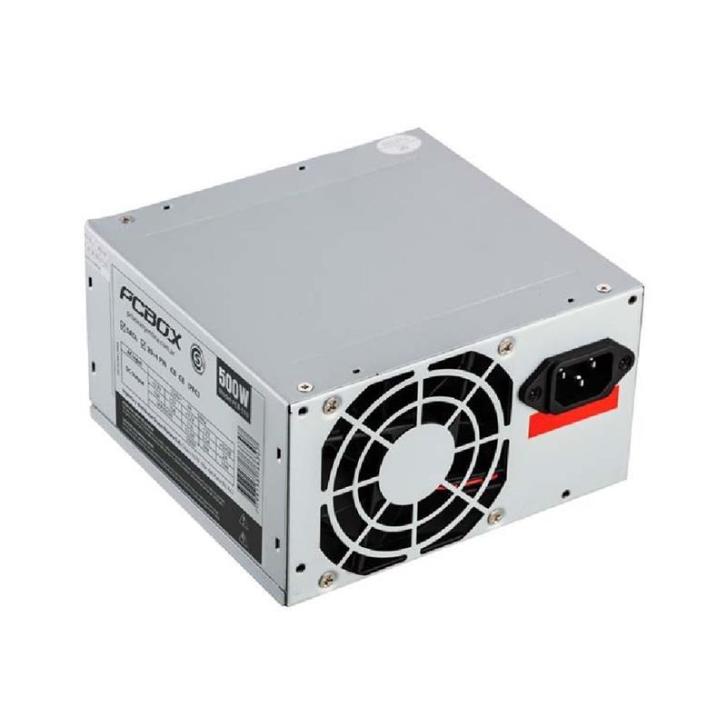 Fuente Atx 500 Watt Pcbox Pcb-510 Sata Cooler 8 Cm