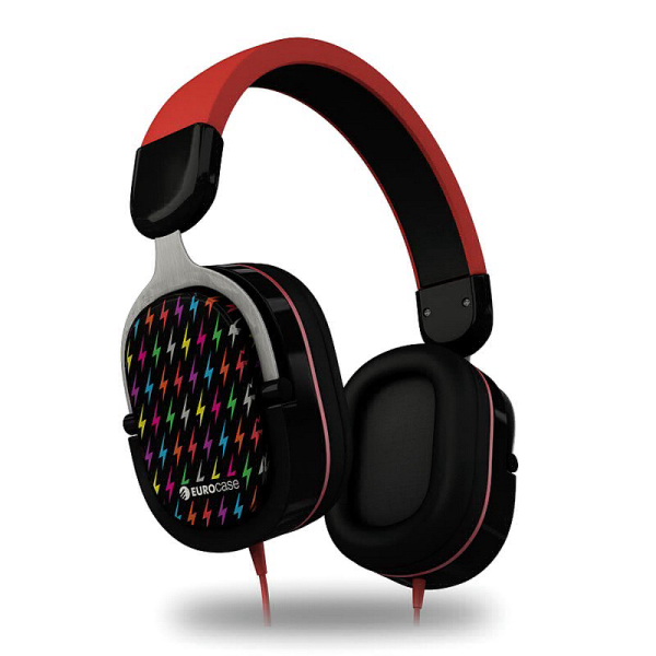 Auricular EURO MOOD BLACK/RED | (OUTLET)