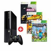 Combo 03 - Microsoft Xbox 360E  + Forza Horizon + Bordelands + Minecraft
