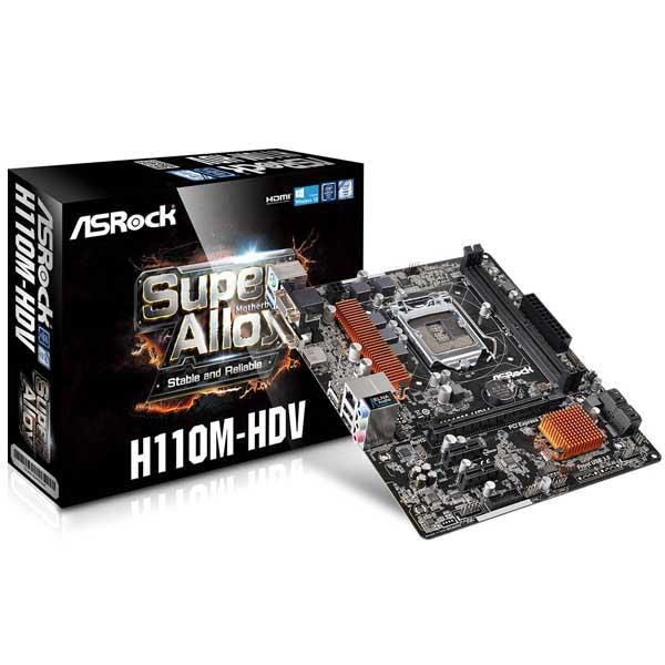 Motherboard Intel (1151) Asrock H110M-Hdv