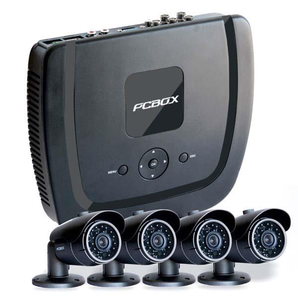 Cctv Kit de Vigilancia Pcbox -Pcb-Dvr4Ahdk- Dvr 4 Camaras Ir + 4  Cables Disco de 1Tb Wd Purple (N)