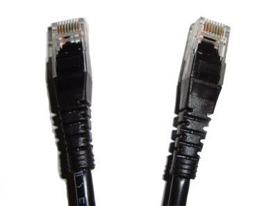 Patch-Cord 0.6M Con Capuchon Cat5 Nexan Negro Q-Qco-Pat060
