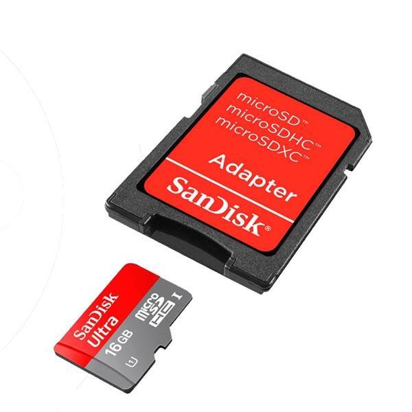 Memoria Sd Micro Sandisk 16Gb Incluye Adaptador