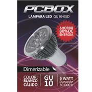 Lampara Led Pc Box Mr16 Gu10 6W Blanco Calido 60º 3000K Mr123
