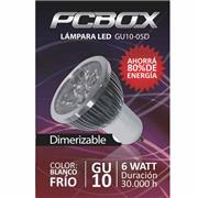 Lampara Led Pc Box Mr16 Gu10 6W Blanco