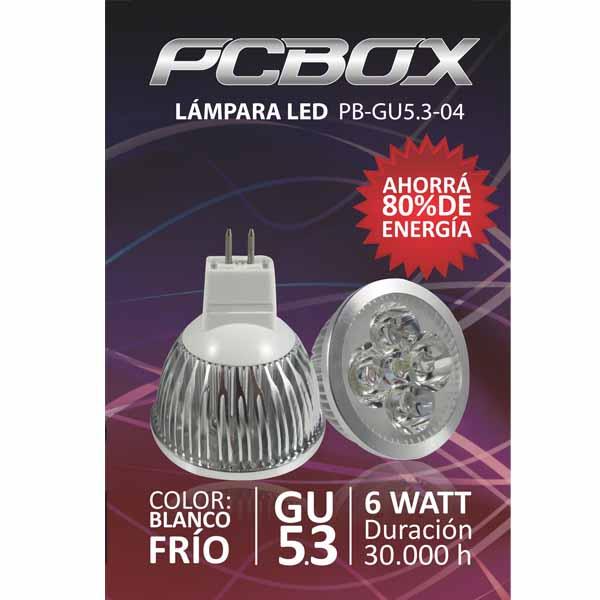 Lampara Led Pc Box Mr16 Gu5.3 4W Blanco Frio 60º 5500K Mr114