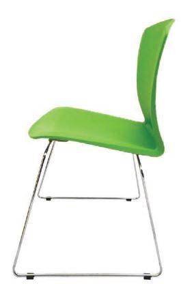 Silla Rolic Diro Cafe Trc Plastica Verde