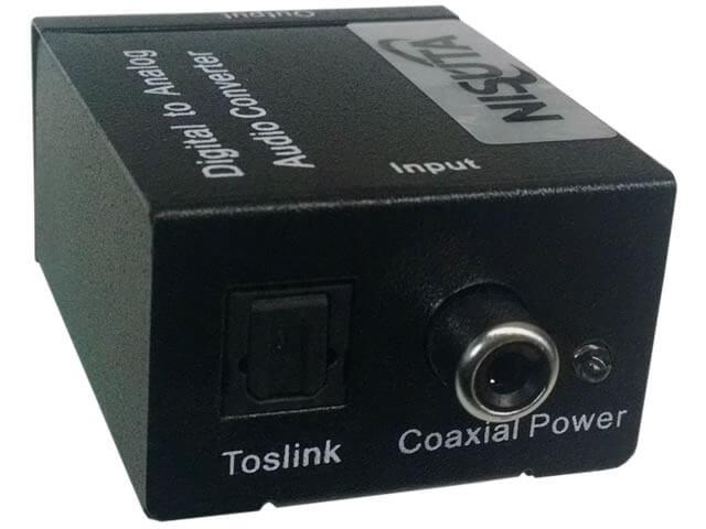 Conversor Audio Nisuta Ns-Coaudiv2 - Toslink O Coaxil H A Rca H CCable Usb