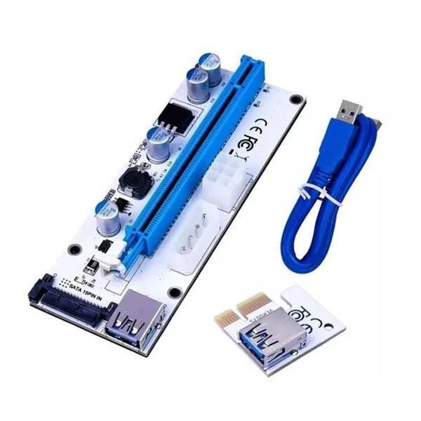 Placa Riser PCI-E 1X a 16X Para Rigs