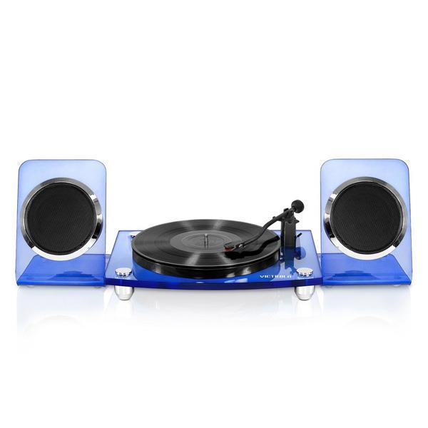 Tocadisco Victrola Acrilico Spkrs Blu/Slv Bluethoot