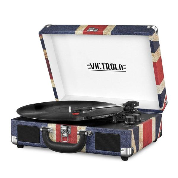 Tocadisco Victrola Maletin Bluetooth Uk-Flag