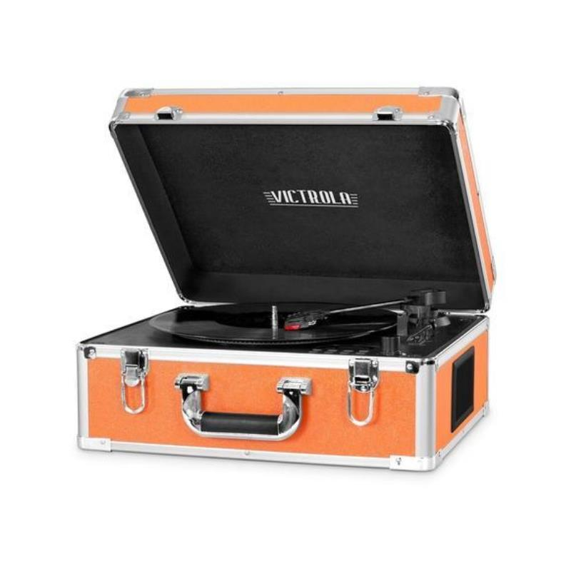Tocadisco Victrola Maletin Bluetooth con reproductor CD Naranja