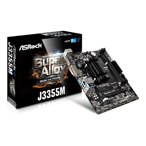 MB INTEL ASROCK J3355M DDR3 SODIMM 1PCIE2.0 X16 HDMI 5USB 3.1
