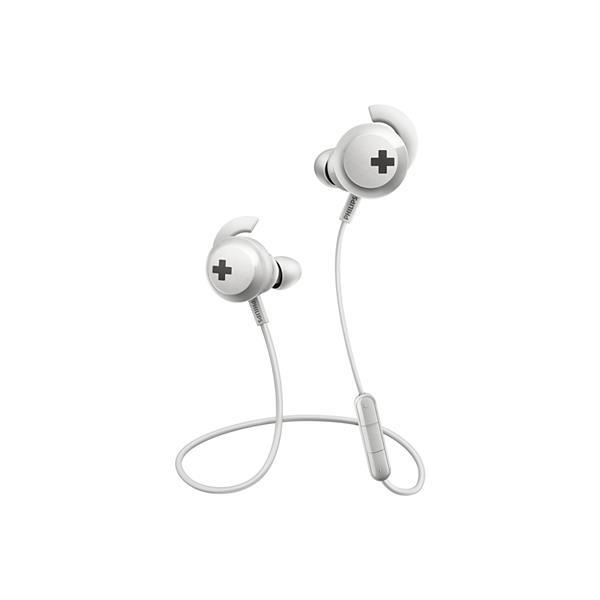 Auricular Philips Shb4305wt/00 in Ear Bass+ inalámbricos con Bt  , Microfono Incorporado, Blanco