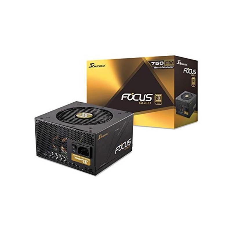 Fuente Seasonic 750 Watt Real 80Plus Gold Focus.