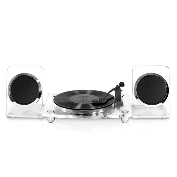 Tocadisco Victrola-OUTLET- Acrilico Spkrs ClrSlv Bluethoot
