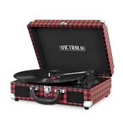 Tocadisco Victrola-OUTLET Maletin Bluetooth Red Plaid