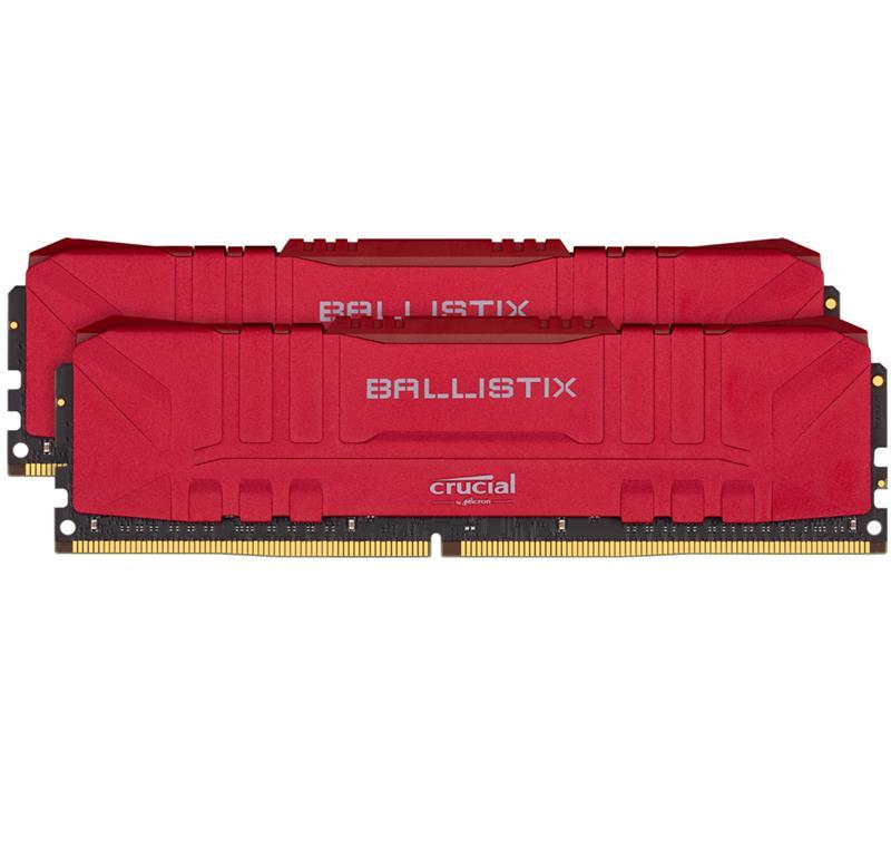 Memoria Udimm Crucial Ballistix 16GB Kit (2x8Gb) DDR4-2666 Red Blister.